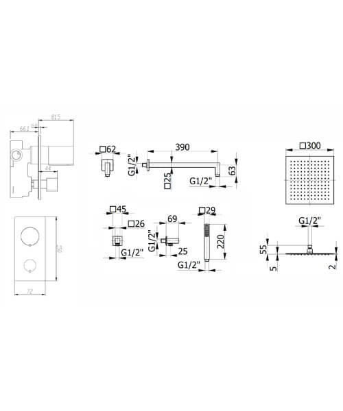 Technical drawing 58205 / FMVELSP