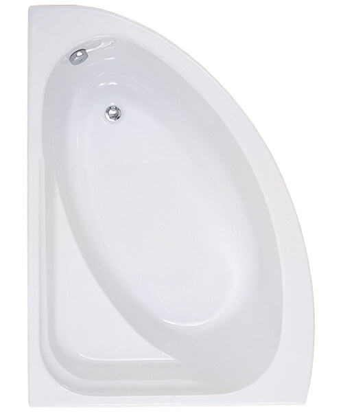 Frontline Orlah 1500 x 1040mm Offset Corner Plain Bath