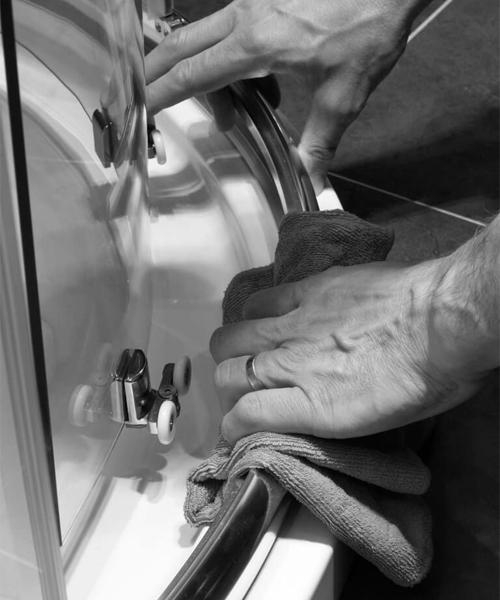 Alternate image of Merlyn Ionic Express 6mm Glass 1900mm Height Sliding Door