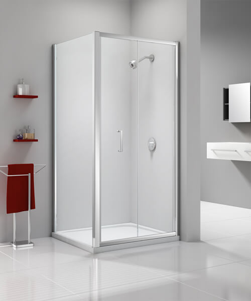 Additional image of Merlyn Ionic Express 6mm Glass Bi-Fold Shower Door 760mm Wide