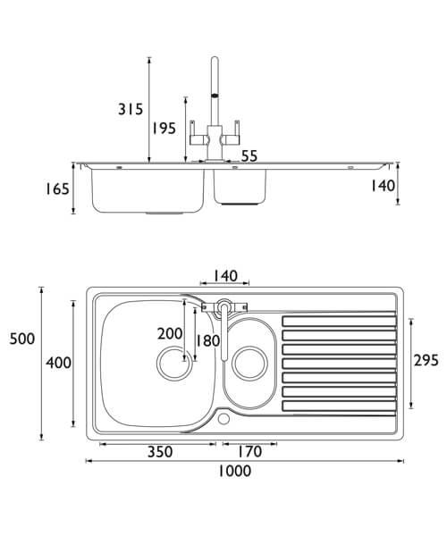 Technical drawing 55341 / SK INXRD1.5 SU CSH