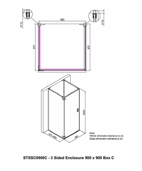 Technical drawing 57646 / STSSC0900