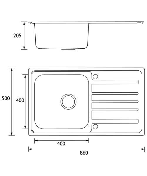 Technical drawing 55336 / SK INXSQ1 SU