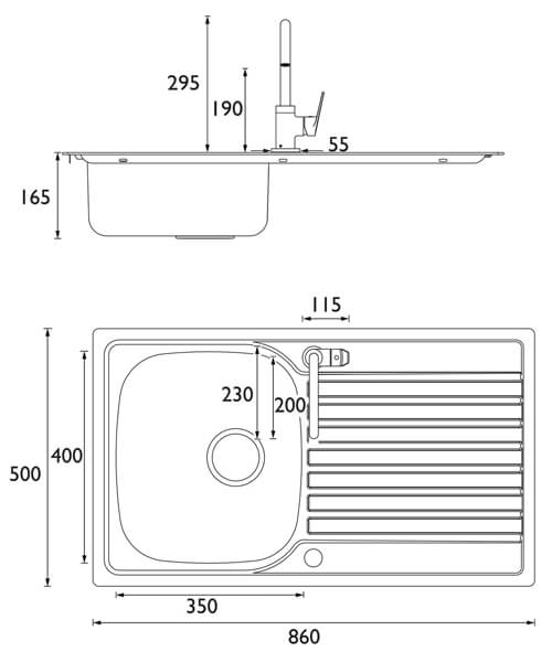Technical drawing 55338 / SK INXRD1 SU RSP