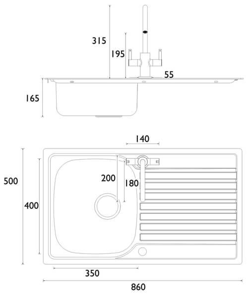 Technical drawing 55340 / SK INXRD1 SU CSH