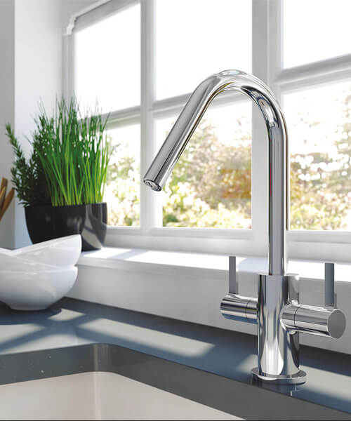 Additional image of Bristan Inox 1.0 Easyfit Kitchen Sink With Cashew Tap - SK INXRD1 SU CSH