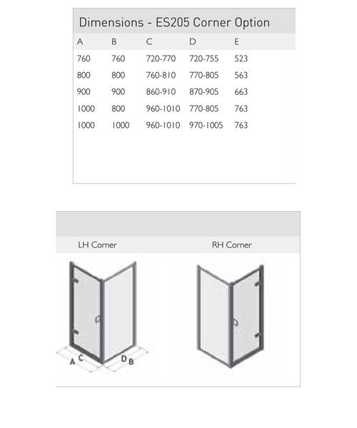 Technical drawing 49845 / ES205-76x76LHC