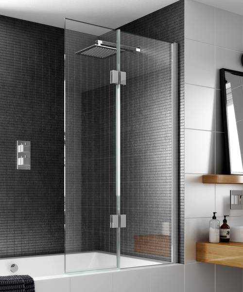 Alternate image of Aqata Design Inward Or Outward Opening Bath Screen 900 x 1500mm