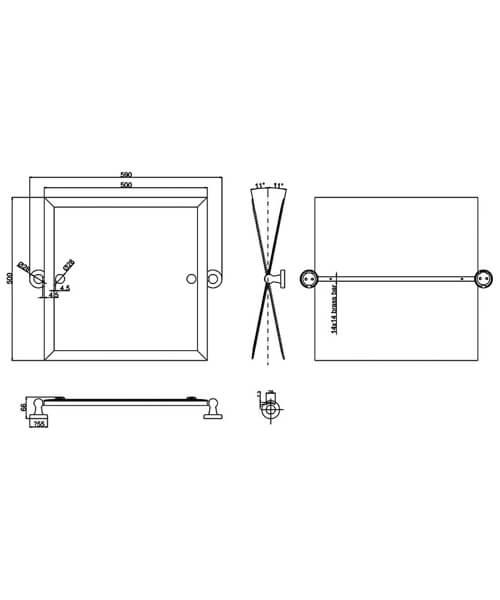 Technical drawing 55373 / ARCA39 CHR