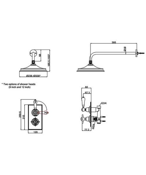 Technical drawing 61001 / ARC73 CHR
