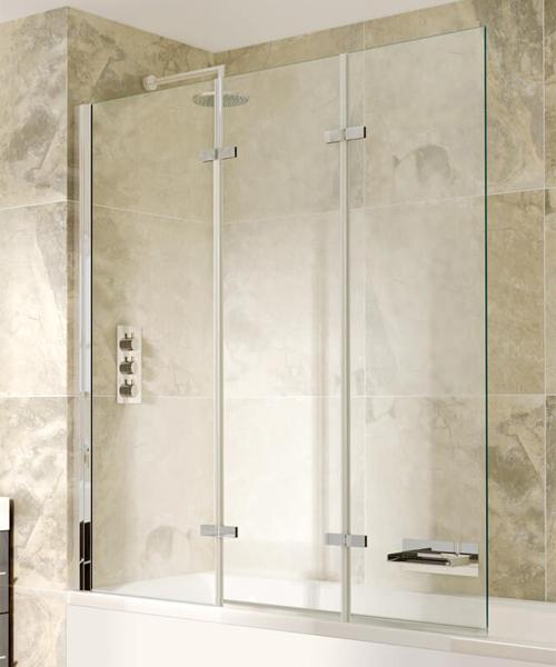 Aqata Spectra SP493 1300mm Wide Triple Panel Bath Screen