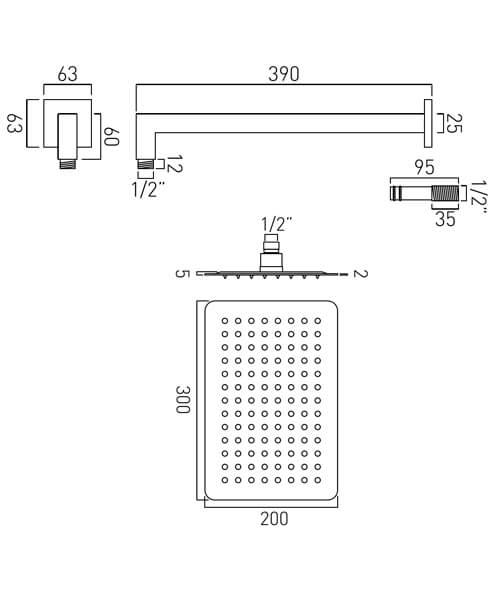 Technical drawing 32110 / AQB-20X30-C/P