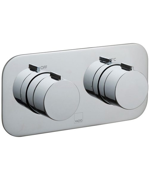 Additional image of Vado Tablet Altitude 1 Outlet 2 Handle Thermostatic Shower Valve