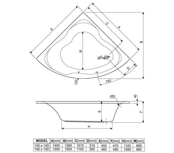 Technical drawing 33961 / 200GLORIA14CWS06