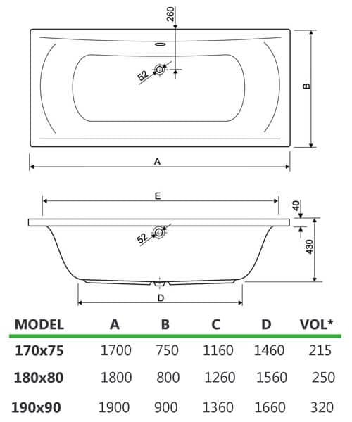 Technical drawing 33632 / 154ARENA1775