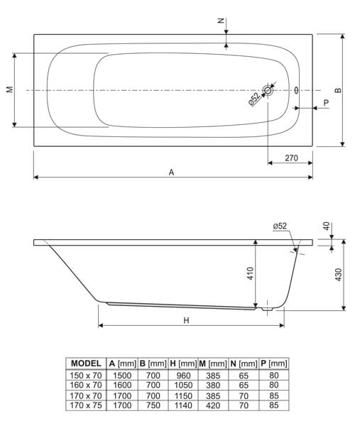 Technical drawing 33621 / 154MERCURY1570