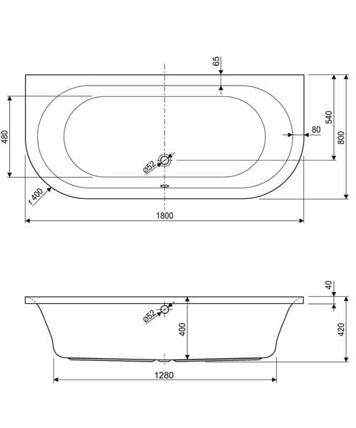 Technical drawing 33769 / 200METAURO11880CWS06