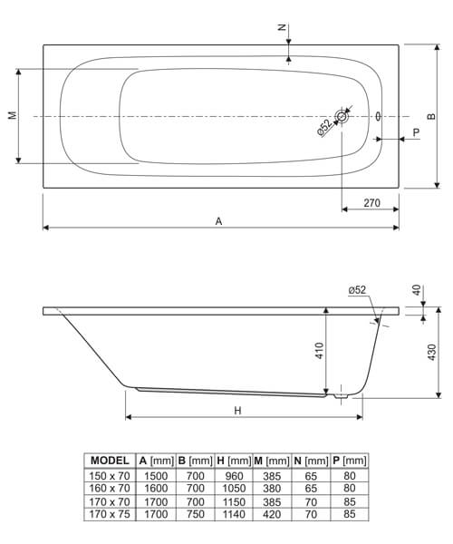 Technical drawing 37033 / 200MER1670AQMAXCWS06