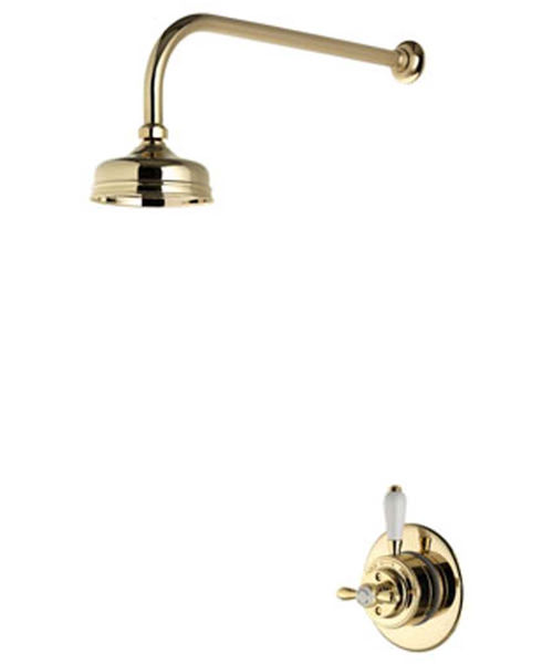 Alternate image of Aqualisa Aquatique Concealed Valve With Fixed 5 Inch Drencher Head