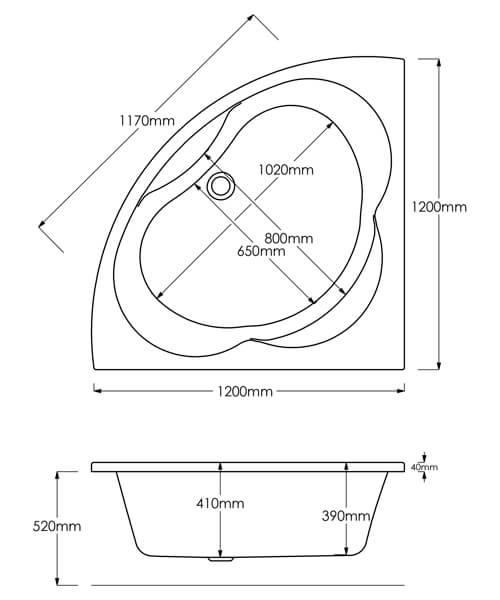 Technical drawing 8732 / B1916