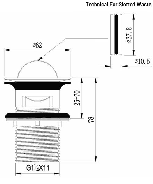 Technical drawing 36485 / FW100