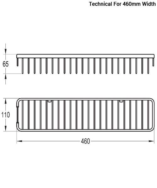 Additional image of Flova Rack Brass Single Basket