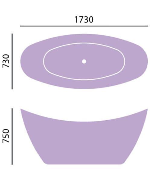 Technical drawing 40503 / BHYFS00STL