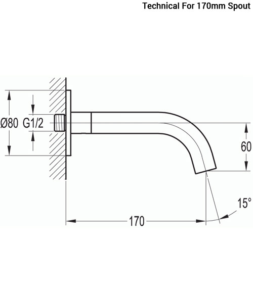 Technical drawing 36063 / LVSPOUT