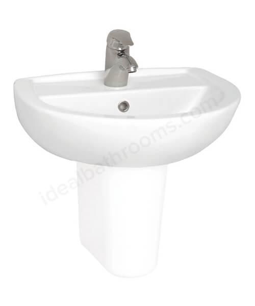 Additional image of VitrA Layton White Ceramic Washbasin