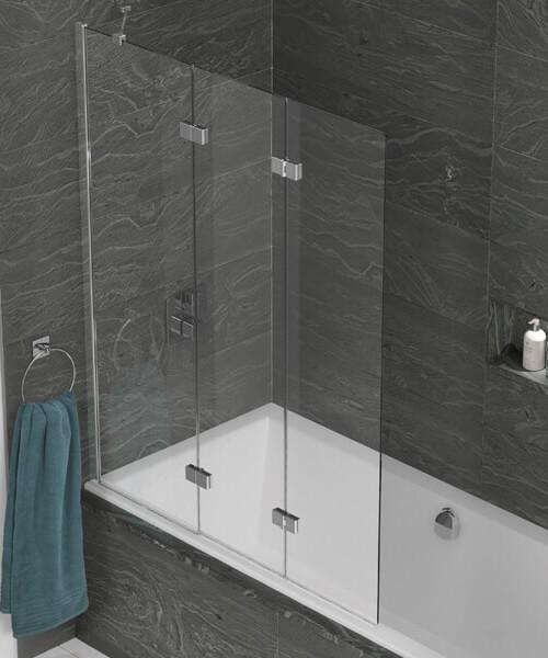 Kudos Inspire 1250 x 1500mm 3 Panel In-Fold Bath Screen