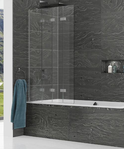 Kudos Inspire 950 x 1500mm 4 Panel Compact In-Fold Bath Screen