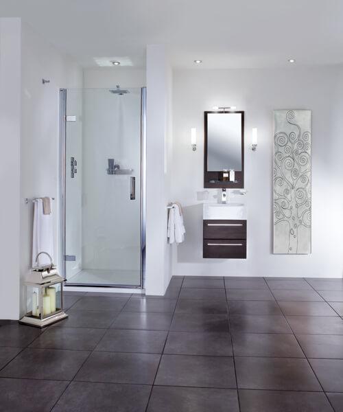 Aqata Spectra SP455 760mm Wide Hinged Shower Door For Recess