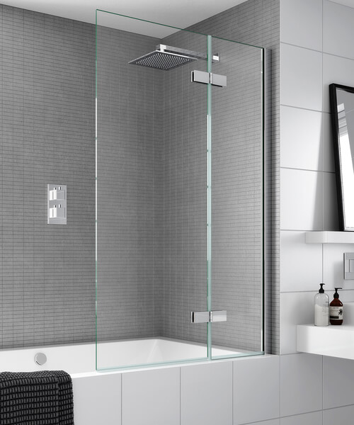 Alternate image of Aqata Spectra SP485 Outward Opening Bath Screen 1000 x 1500mm