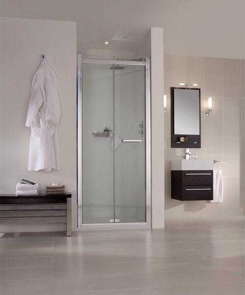 Aqata Spectra SP480 Recess Bi-Fold Shower Door