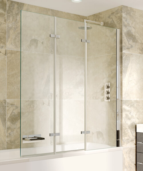 Alternate image of Aqata Spectra SP493 1300mm Wide Triple Panel Bath Screen