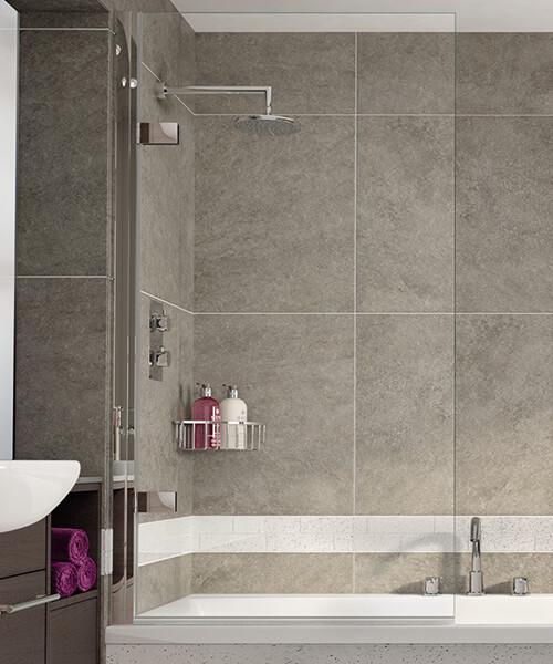 Aqata Spectra SP495 850mm Wide Single Panel Bath Screen