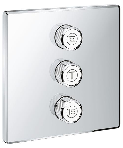 Grohe Grohtherm SmartControl Chrome Triple Volume Control Trim