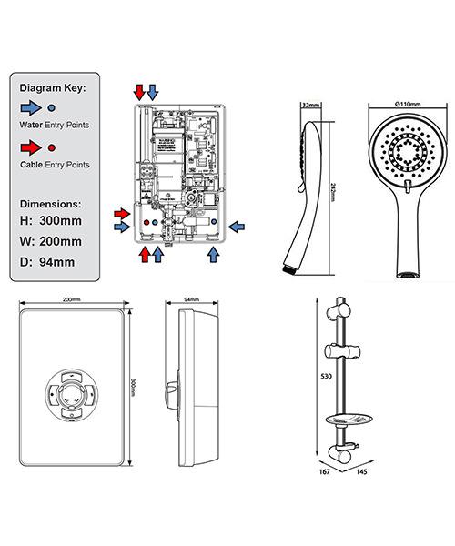Technical drawing 11769 / ASP09GSBLK