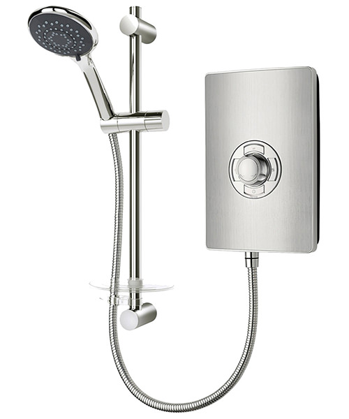 Triton Aspirante Brushed Steel Electric Shower 8.5 KW