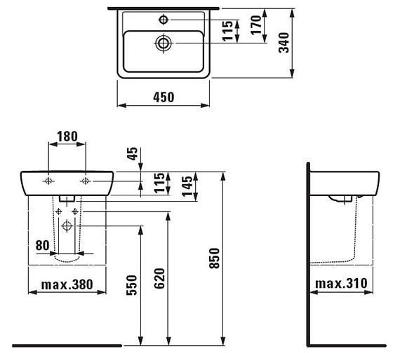 Technical drawing 22819 / 11951WH