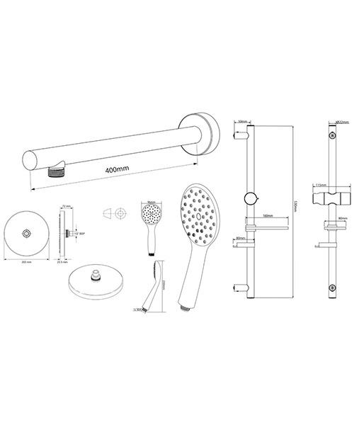 Technical drawing 50787 / TSPKDIVRRCIR