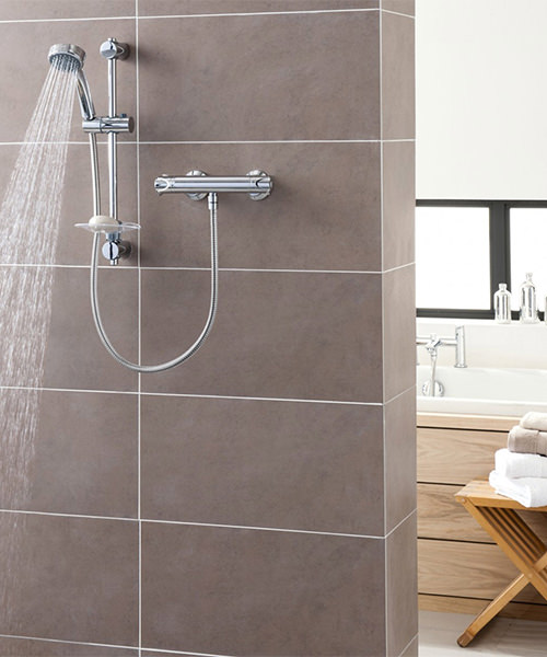 Alternate image of Triton Dene Chrome Bar Diverter Mixer Shower Set