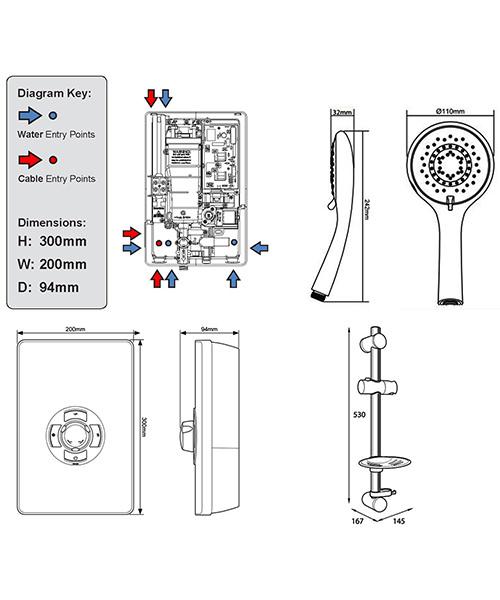 Technical drawing 11766 / ASP08GUNMTL