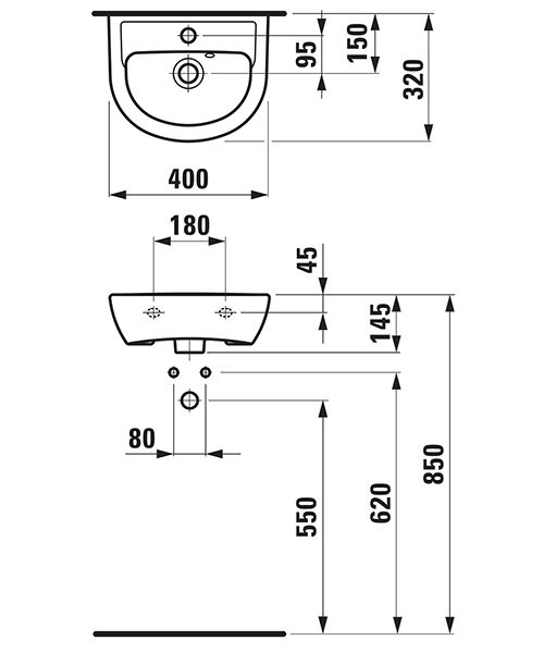 Technical drawing 25713 / 15951WH