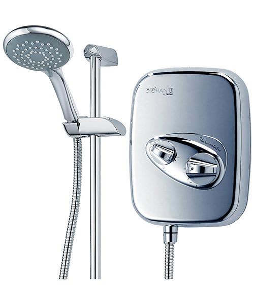 Additional image of Triton Aspirante Thermostatic Power Shower Chrome