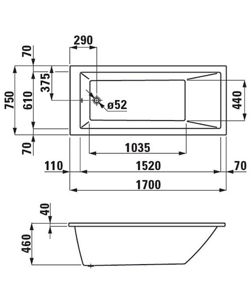 Technical drawing 22846 / 231950WH