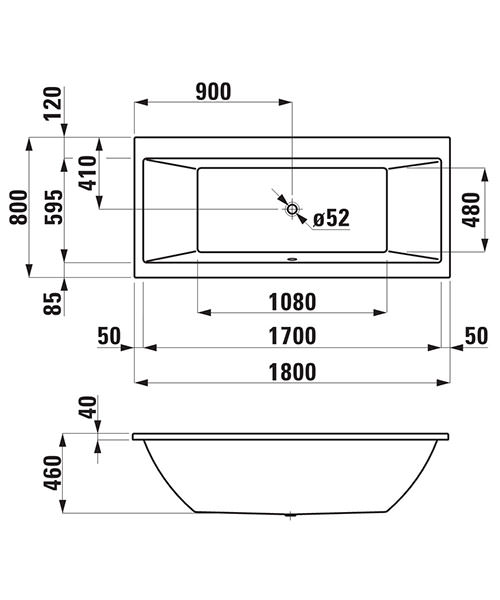 Technical drawing 22849 / 232950WH