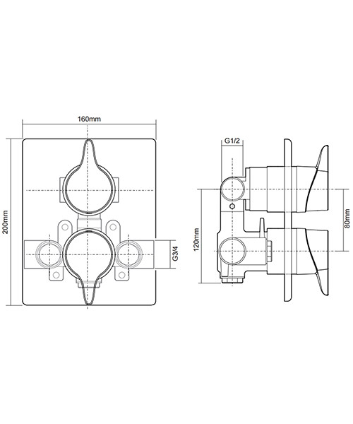 Technical drawing 50694 / UNEDTHDCDIV
