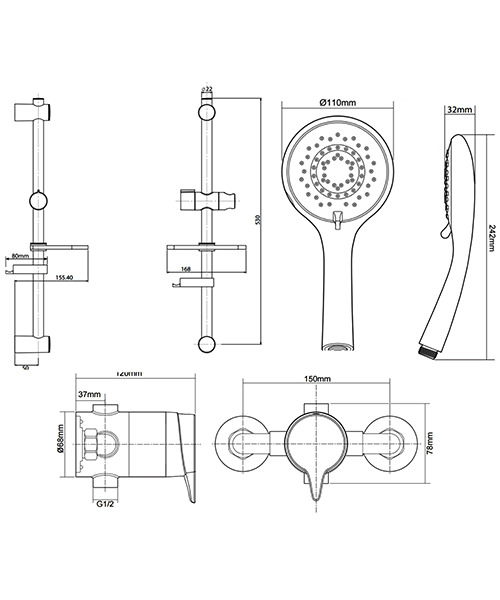 Technical drawing 50696 / UNEDTHSQM