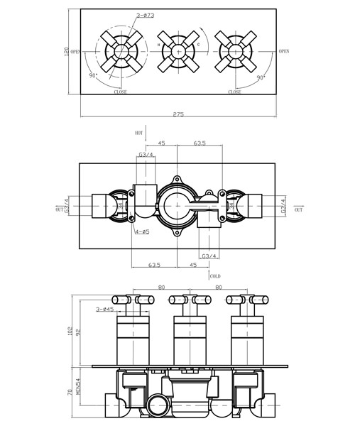 Technical drawing 13278 / TO3001RC
